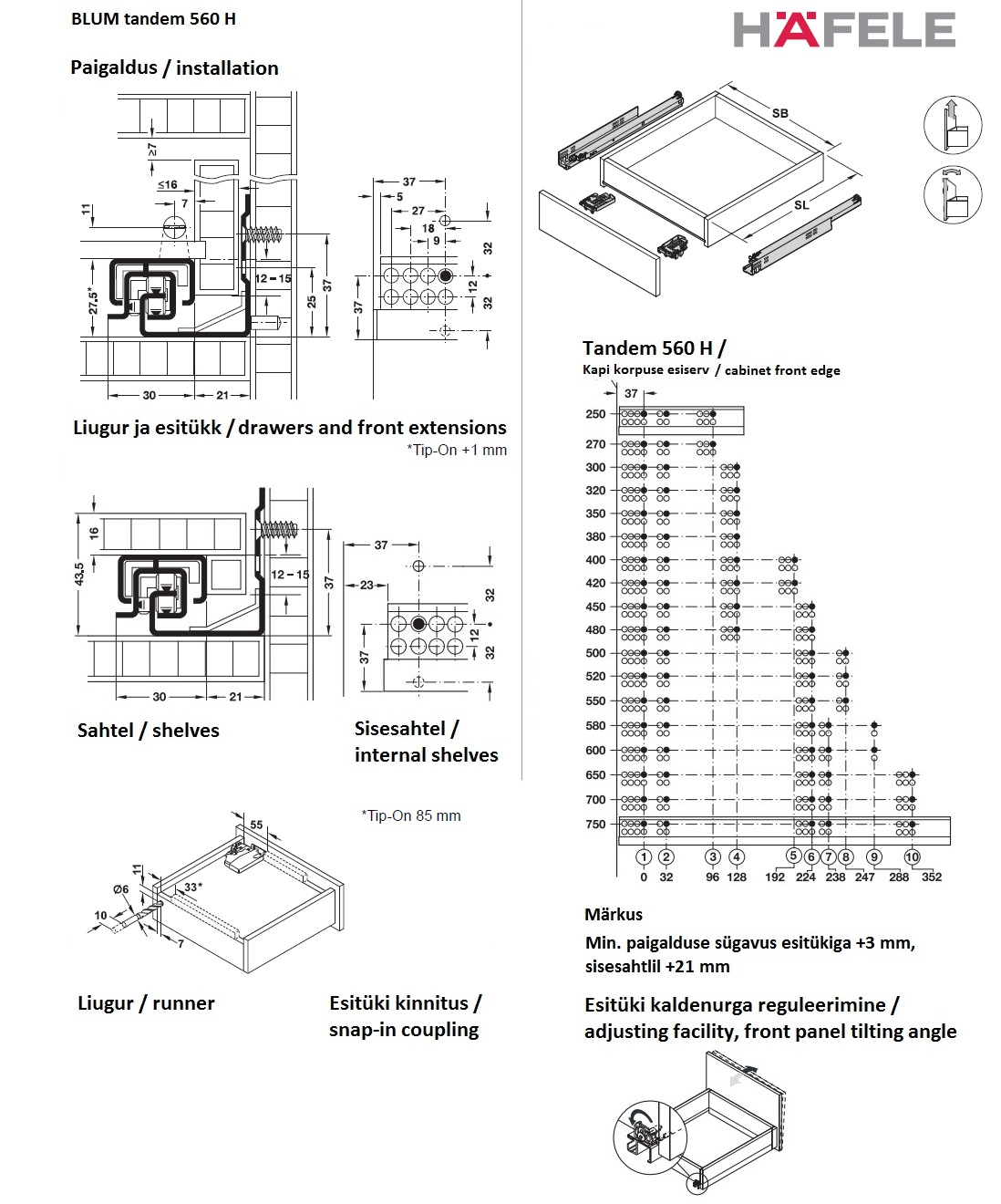 blum tandem plus installation instructions